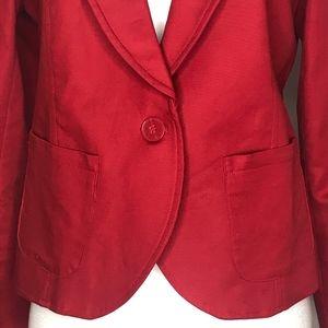 Kenar Jackets & Coats - Kenar Red Single Button Blazer A020678